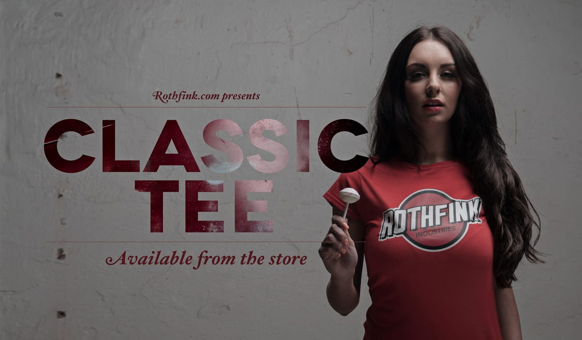 New Classic Red Teeshirt now available in the store