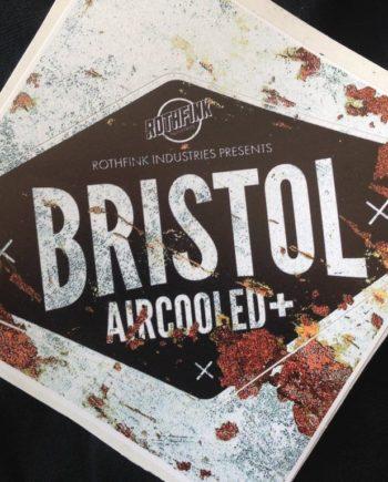 bristol aircooled plus sticker