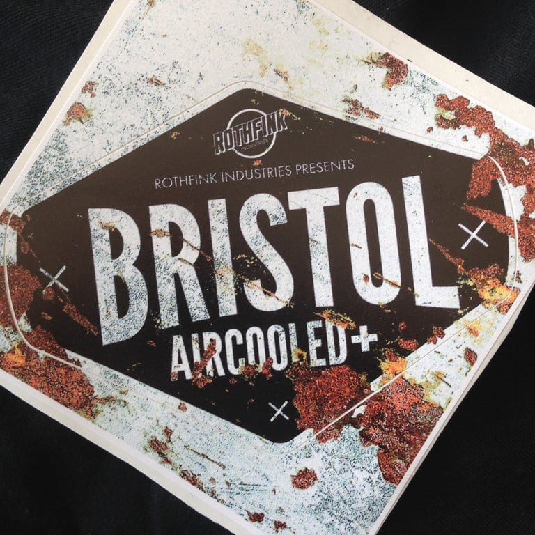 bristol aircooled plus sticker